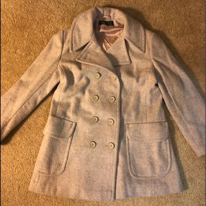 Pura Lana Vergen double breasted wool pea coat